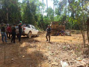 PM e SEMMA apreendem 114m³ de madeira, no sudeste paraense